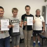 Jugendwertung: Leon (1.), Elias (3. ) und Clemens (2.)
