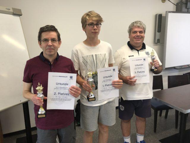Andreas (2. PLatz), Johannes (1. Platz) und Oliver (3.Platz)